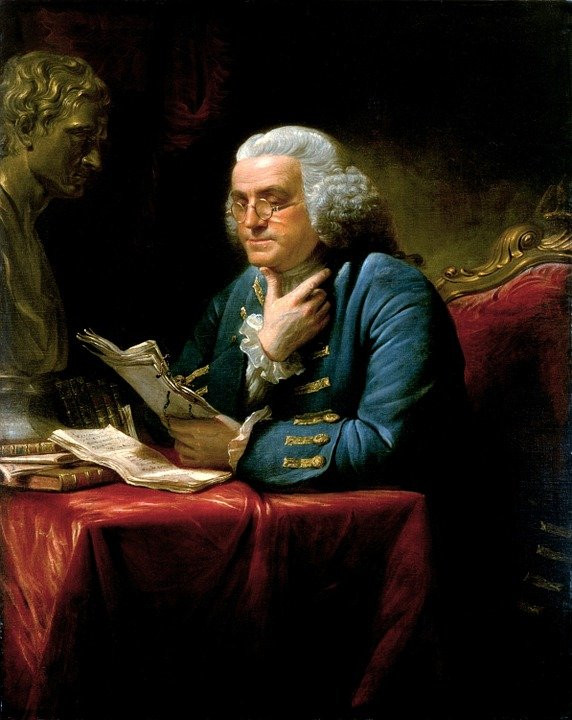 "Benjamin Franklin published an essay entitled ""An Economical Project for Diminishing the Cost of Light"""